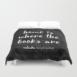 NBJ - Home is Where the Books Are Duvet Cover