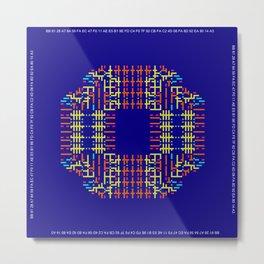 """Microchip"" 4  Metal Print"