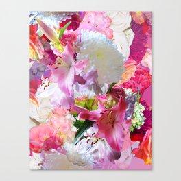 Lush Lilies Canvas Print
