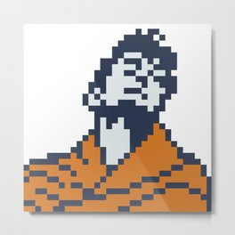 Dev Anand as Guide minimal pixel art Metal Print