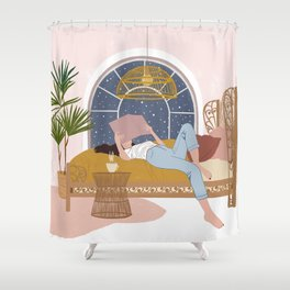 Cosy Winter Nights Shower Curtain