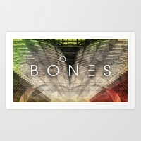 bones Art Prints featuring Bones by Vin Zzep
