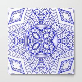 Mindful Mandala Pattern Tile MAPATI 83 Metal Print