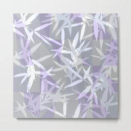 Elegant Grey Origami Geometric Effect Design Metal Print