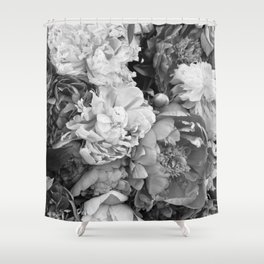 pink pink PEONIES Shower Curtain