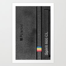 Polaroid Spirit 600 CL, black Art Print