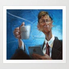 Bill Gates Art Print