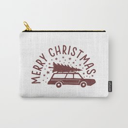 Merry Christmas Station Wagon Carry-All Pouch