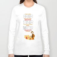 winnie the pooh Long Sleeve T-shirts featuring stronger, braver, smarter, winnie the pooh by studiomarshallarts