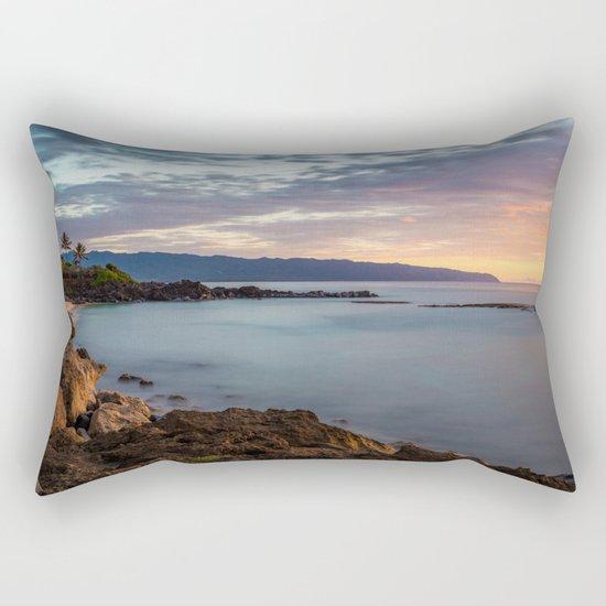 Three Tables Beach, Haleiwa, USA Rectangular Pillow