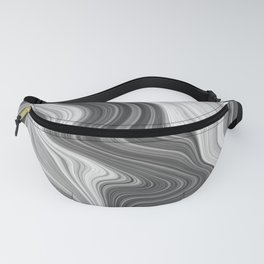 Black and White Agate Texture Fanny Pack