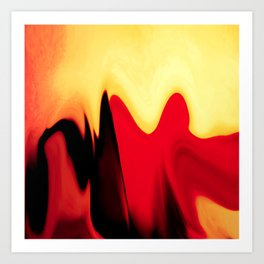eternal burning flame of life Art Print