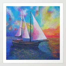 Bodrum Turquoise Coast Gulet Cruise Art Print