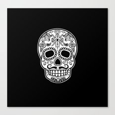Mexican Skull - Black Edition Canvas Print