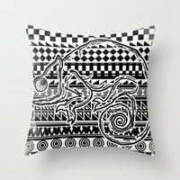 ethnic Throw Pillows featuring ethnic by jun salazar