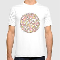 Sun Caves Mens Fitted Tee MEDIUM White