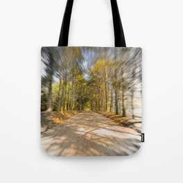 Spinning Road Tote Bag