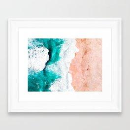 Beach Illustration Framed Art Print