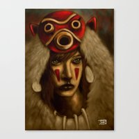princess mononoke Canvas Prints featuring Mononoke by Debono Art