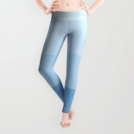 Blue Glass Pastel Stripe Leggings