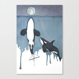 Orca Moon Canvas Print