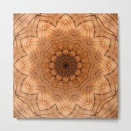 Wood Kaleidoscope b Metal Print