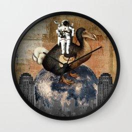 Dodo on The Moon Wall Clock