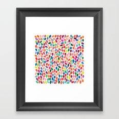 rain 2 sq Framed Art Print