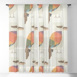 Laughing Kookaburra Sheer Curtain