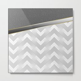 Combined pattern in shades of gray . Metal Print
