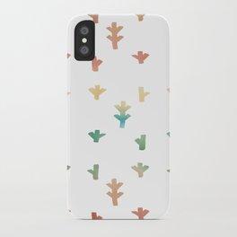 Colorful Boho tree pattern iPhone Case