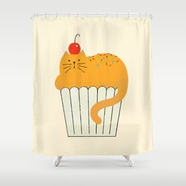 Cup-Cat Shower Curtain