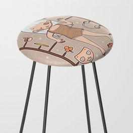 MUOUS Doll Counter Stool