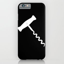 Corkscrew Over Black iPhone Case
