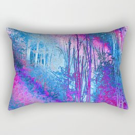 Psychedelic Forest (blue-pink) Rectangular Pillow