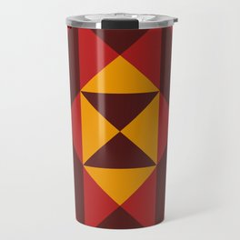 Concentric Triangles or something like that and a Graphic Clessidra at the center Travel Mug