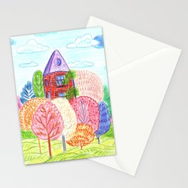 Autumn in town Stationery Cards