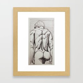 Male Back Sketch Framed Art Print