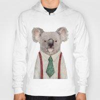 koala Hoodies featuring Koala by Animal Crew