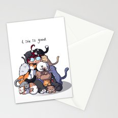 Cat Cave Stationery Cards