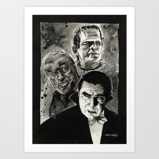 The Un-Holy Three Art Print