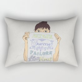 Positive about Ambiguity Rectangular Pillow