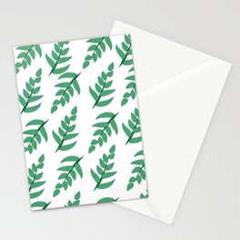 Green leaves and branch Stationery Cards