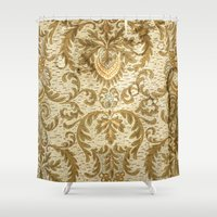 wallpaper Shower Curtains featuring Wallpaper by floor-pies