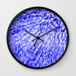 Blue Pixel Wind Wall Clock