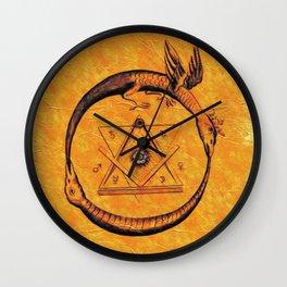 Ouroboros, Freemasonic Symbol Wall Clock