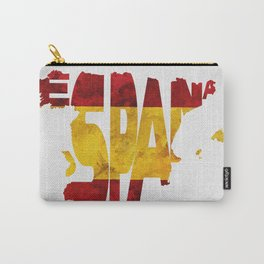 Espana / Spain Typographic Flag / Map Art Carry-All Pouch