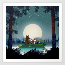 Bear and Fox Art Print