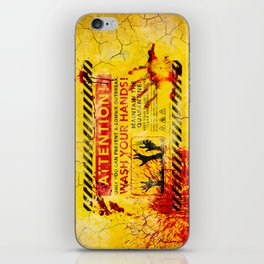 Prevent Zombie Outbreak: Wash your hands! iPhone Skin