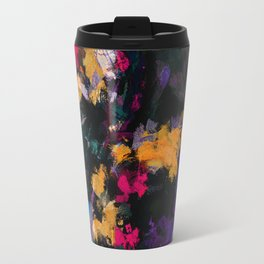 Purple and Yellow Abstract / Surrealist Painting Travel Mug